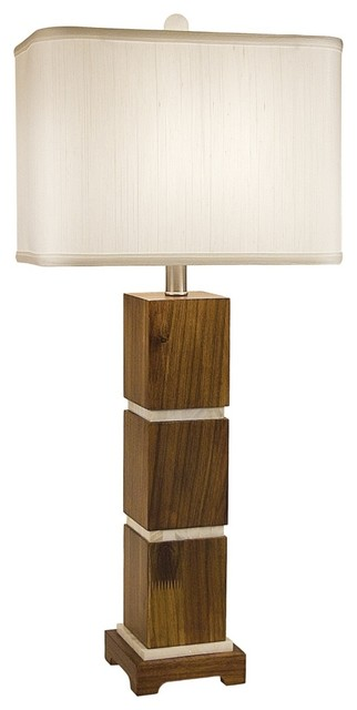 asian thumprints bali wooden table lamp with rectangle. Black Bedroom Furniture Sets. Home Design Ideas