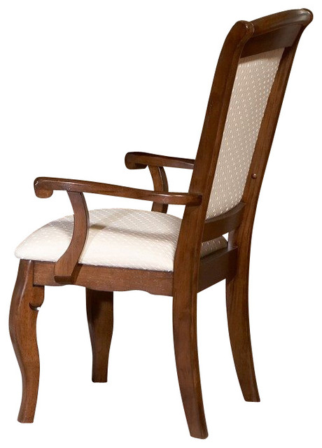 Traditional Upholstered Dining Chairs ~ Liberty furniture louis philippe upholstered arm chair in