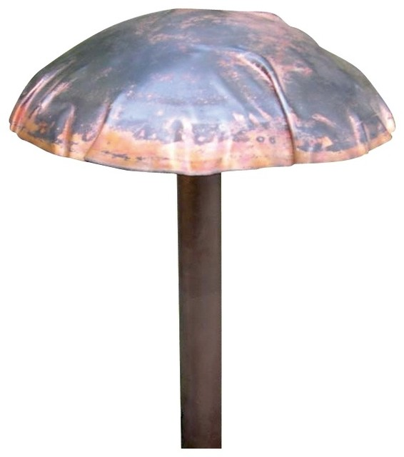Contemporary hadco hand crafted copper 17 1 8 high for Copper landscape lighting