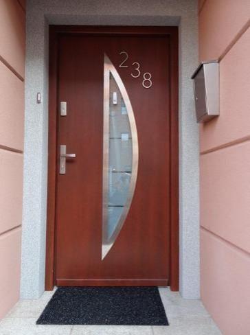 Modern exterior door model 002 contemporary front for New model front door