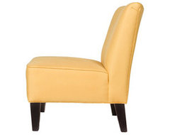 Golden Yellow Armless Chair contemporary-living-room-chairs