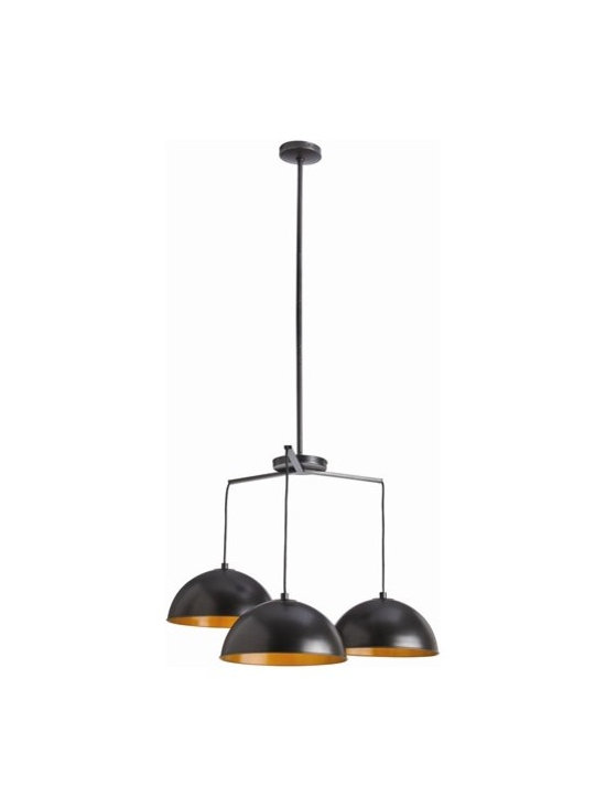 Arteriors Sheldon 3 Light Iron Pendant - Sheldon 3 Light Iron Pendant