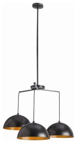 Arteriors Sheldon 3 Light Iron Pendant contemporary-pendant-lighting