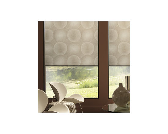 """Blindsgalore - Blindsgalore Expressions Roller Shades: Contemporary Patterns - For a more modern or fashion-forward look, these Contemporary Patterns feature unique designs in an array of bold colors.  Add additional texture with one of our upgrade fabric choices!  Our Expressions Roller Shades are printed """"on-demand"""" on your choice of two fabrics and are available in a wide array of colors, styles, patterns and designs."""