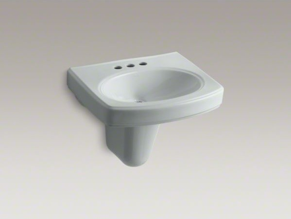 Kohler Wall Hung Lavatory : KOHLER Pinoir(R) wall-mount bathroom sink with 4