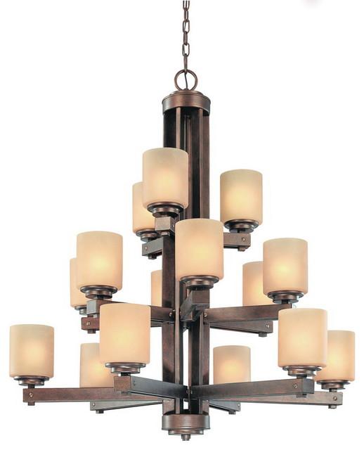 Dolan Designs 2703-90 Sherwood Sienna 15 Light Chandelier contemporary-chandeliers