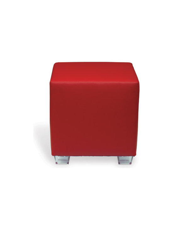 Hancock Red Ottoman - This bright red ottoman adds the perfect pop of color to a neutral room! Use as an accent table, an ottoman or for additional seating!