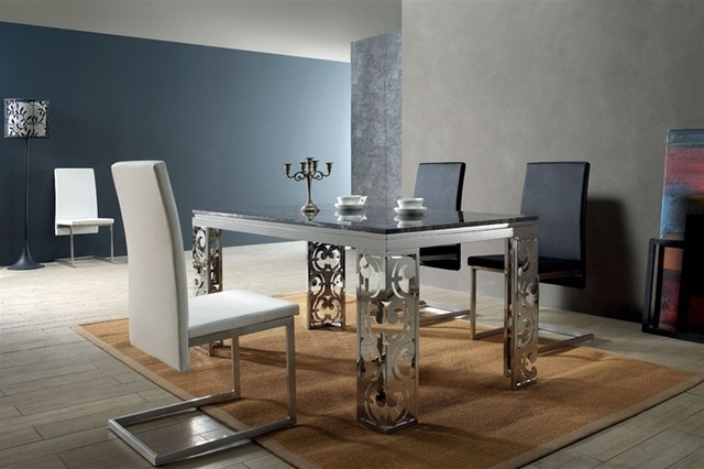 Rassli Marble Top Dining Set modern-dining-tables