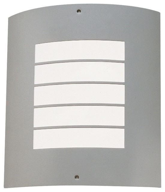 "Arts and Crafts - Mission Kichler Newport 10 1/4"" High Nickel Outdoor Wall Light contemporary-outdoor-wall-lights-and-sconces"