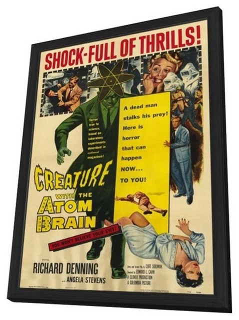 Creature With the Atom Brain 27 x 40 Movie Poster - Style A - in Deluxe Wood Fra prints-and-posters