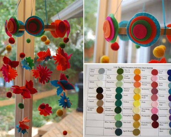 Flutterby Flower Mobile - Custom Made in Your Colors -
