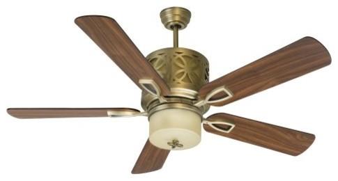 Craftmade PR52HB Pierce 52-in. Indoor Ceiling Fan - Heirloom Brass contemporary-ceiling-fans