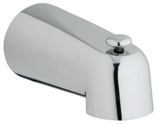 """Grohe 5"""" Diverter Tub Spout - Starlight Chrome modern-kitchen-faucets"""