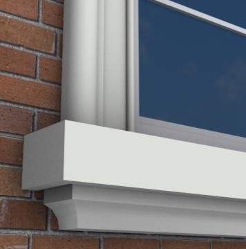 MX208 Exterior Window Sills Molding And Trim Toronto By Mouldex Exter