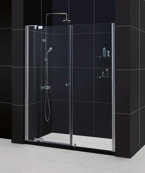 "ALLURE Adjustable 48"" to 55 Pivot Shower Door Chrome modern-showers"