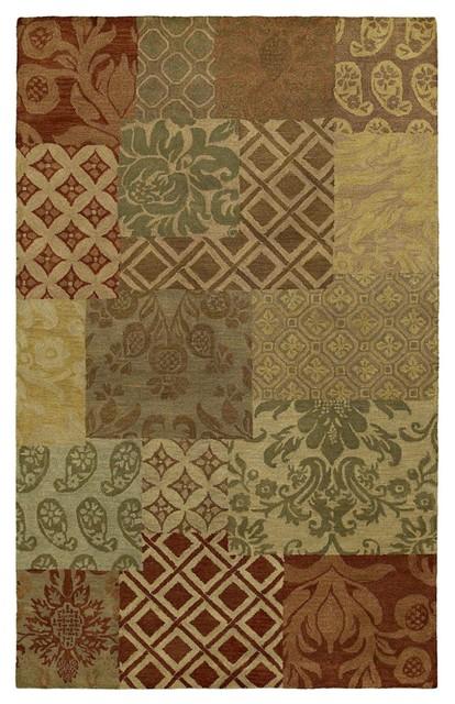 Contemporary Magi 2'x3' Rectangle Tarten Area Rug contemporary-rugs