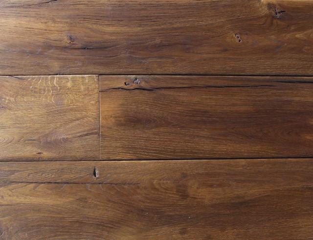 Reclaimed french oak wide planks mediterranean for Mediterranean flooring