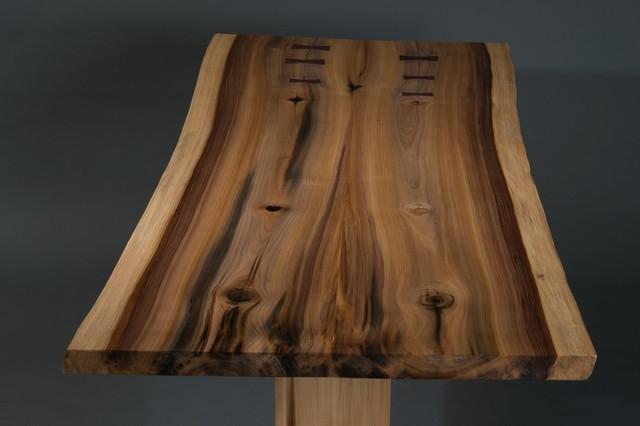 Rainbow Poplar Trestle Table Contemporary Dining