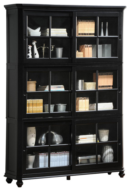 Homelegance Hanna Stackable Bookcase in Black - traditional