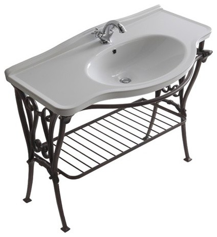 Old-looking aluminium alloy under-basin structure 110cm - Ethos traditional-bathroom-vanities-and-sink-consoles