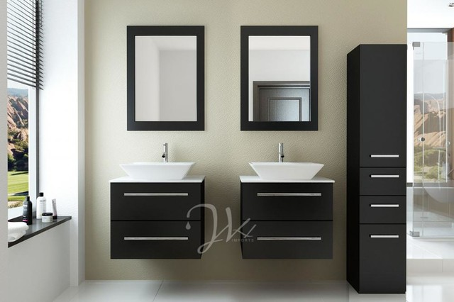 "48"" Double Carina Bathroom Vanity modern"