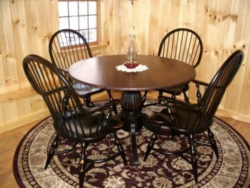 Kitchen Farm Table With Black Fluted Pedestal farmhouse dining tables
