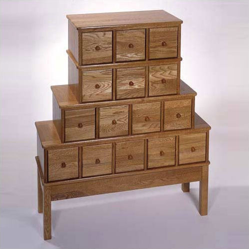 wood 15 drawer cd dvd storage cabinet apothecary style