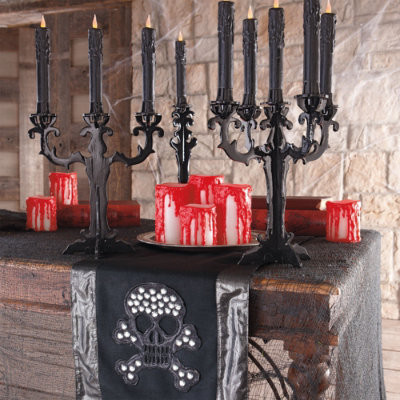 """Heavy Blood Drip LED Candle - 4""""H - Halloween Decorations and Decor traditional-holiday-decorations"""