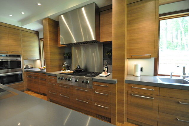 custom walnut kitchen contemporary other metro by