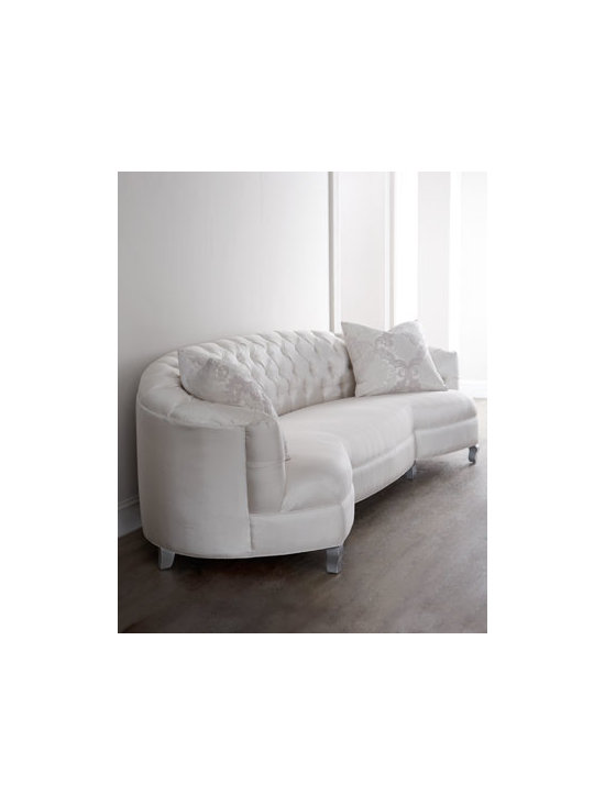 """Haute House - Haute House """"Kate"""" Sofa - Exclusively ours. Dreams are made of this—a stunning sofa with a curvaceous frame with feet to match, creamy upholstery, and diamond tufting. What more could you want? Handcrafted. Alder wood frame. Hand-painted finish. Rayon upholstery. 120..."""