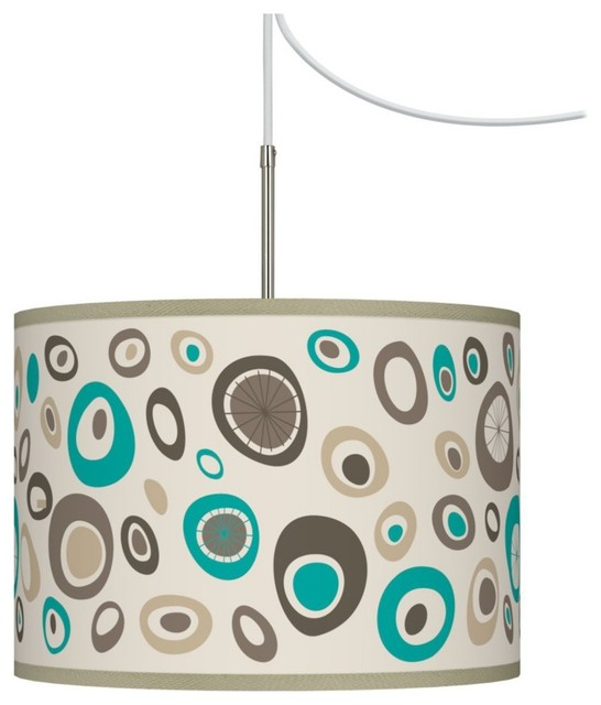Contemporary Stammer Giclee Glow Swag Style Plug-In Chandelier contemporary-chandeliers