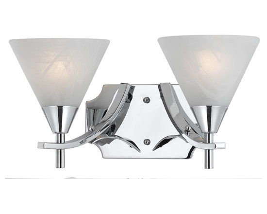 Triarch International - Triarch 33320/2 Value Series Chrome Plated 2 Light Vanity - Triarch 33320/2 Value Series Chrome Plated 2 Light Vanity