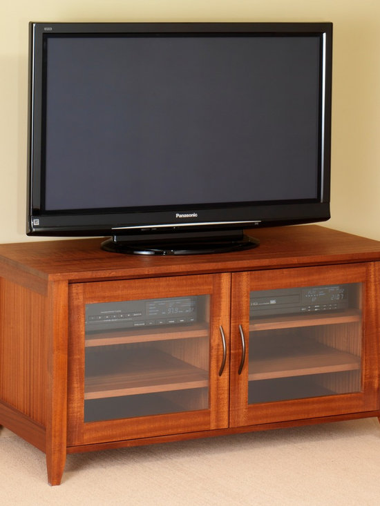 ANACORTES MEDIA STAND - The Anacortes media stand is influenced by the styles and cultures of its geographical namesake. A charming character and abundance of organization make this media cabinet a real treasure.