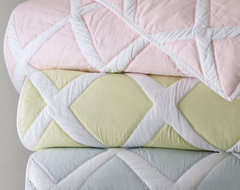 """Quilted """"Diamond"""" Bed Linens traditional-bedding"""
