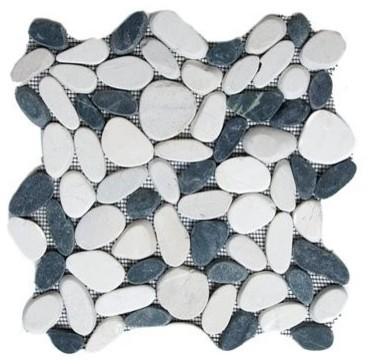 Exotic Glass STO 131 Black/White Cut Stone contemporary-tile
