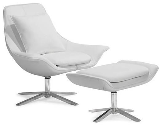 Estro Salotti Spark Modern White Leather Lounge Chair How
