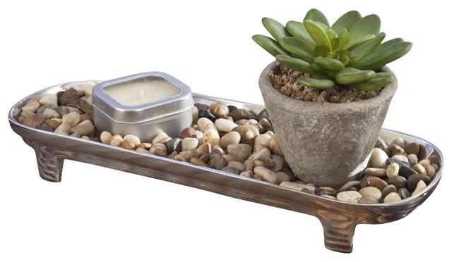 Indoor outdoor zen garden candle centerpiece asian by