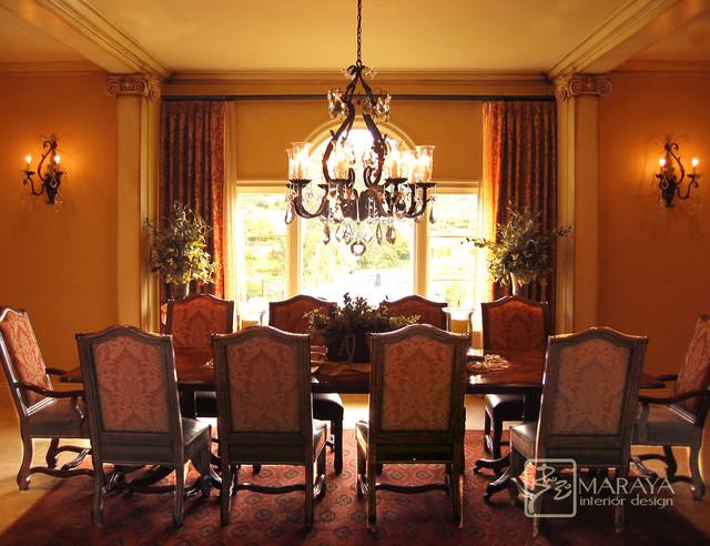 Italian Style Dining Room mediterranean-dining-room