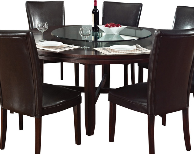 Round Dining Table 52 Inch: Steve Silver Hartford 72 Inch Round Dining Table In Dark