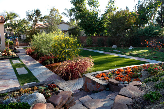 Low maintenance backyard landscape design for Modern backyard landscaping