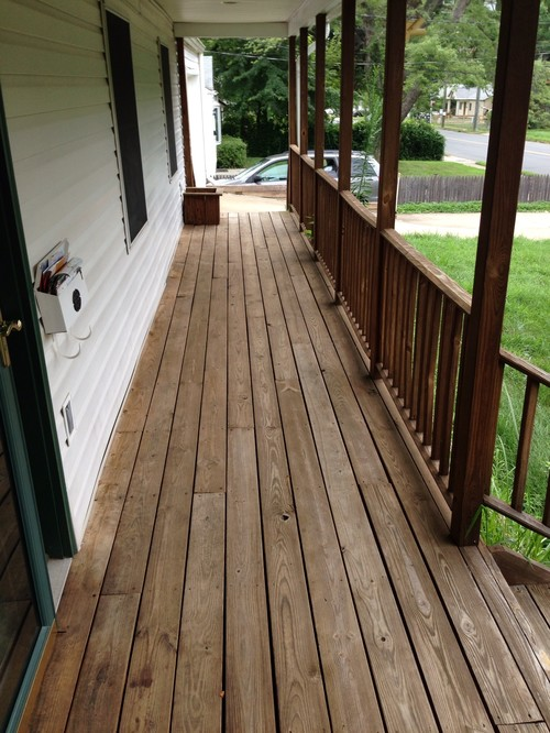 Need ideas for front porch paint or stain for What color to paint my front porch