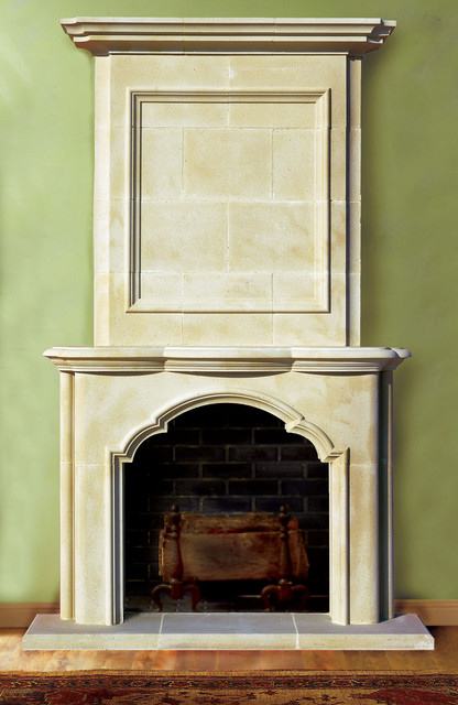 avondale cast stone fireplace mantel traditional