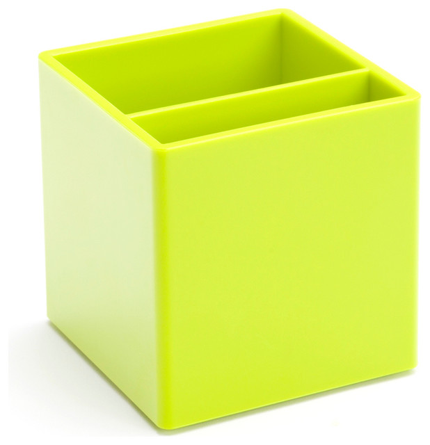 Pen Cup Lime Green Modern Desk Accessories