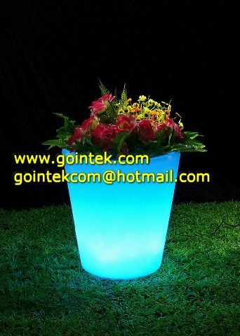 Bright Color LED Flower Pots modern-outdoor-pots-and-planters