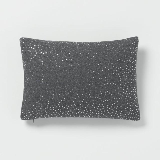 Sequins Felt Pillow Cover - Contemporary - Decorative Pillows - by West Elm
