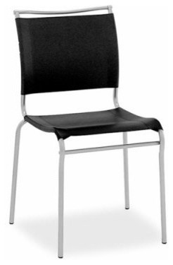 Calligaris Air Leather Stacking Dining Chair - Set of 2 modern-dining-chairs