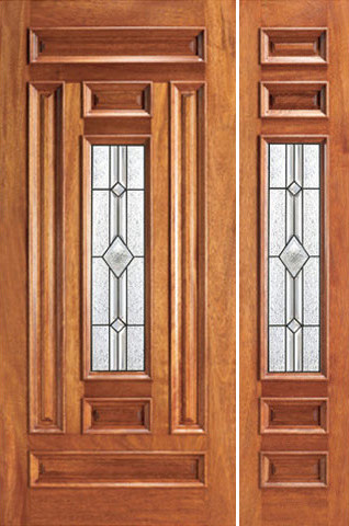 Pre-hung Mahogany Center Lite Exterior One Side light Door - Traditional - Front Doors - tampa ...