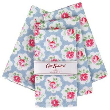Provence Rose Set of 4 Napkins by Cath Kidston traditional-napkins