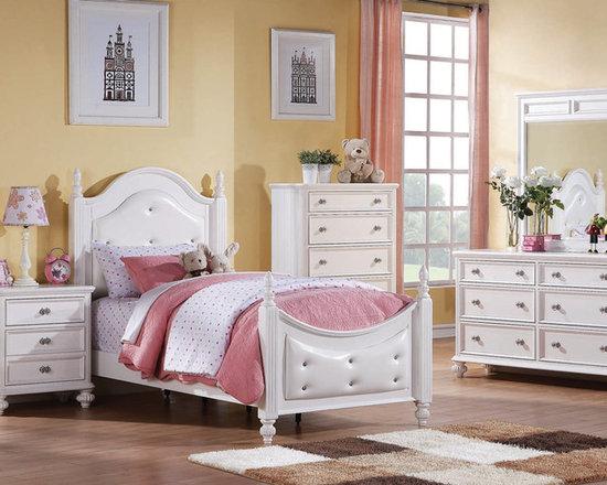 Bedrooms Furniture - Athena Youth White Master Bedroom Set