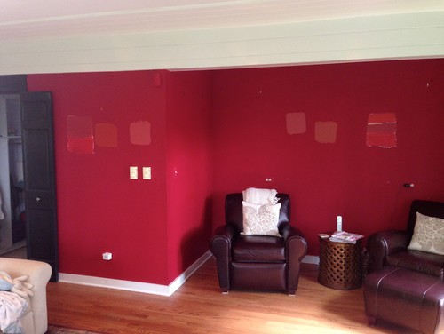 need help choosing a red paint color for my living room